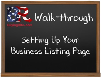 Setting Up Your Business Listing Page